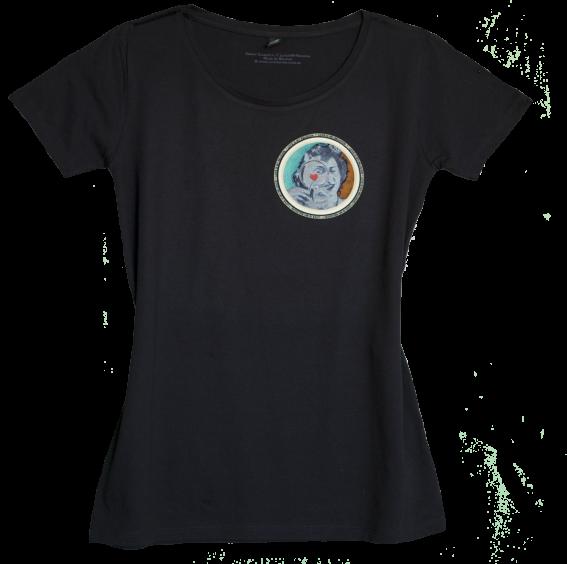 Climate Neutral organic cotton Girl T-shirt in black. Design by Sammy Slabbinck.